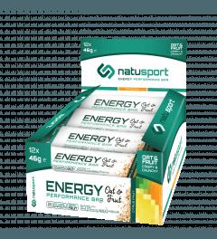 NatuSport Energy Performance Bar Oat&Fruit - Citrus Fruit 12 x 46 gram
