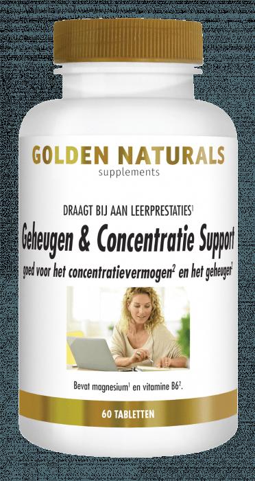 Golden Naturals Geheugen & Concentratie Support 60 vegetarische capsules