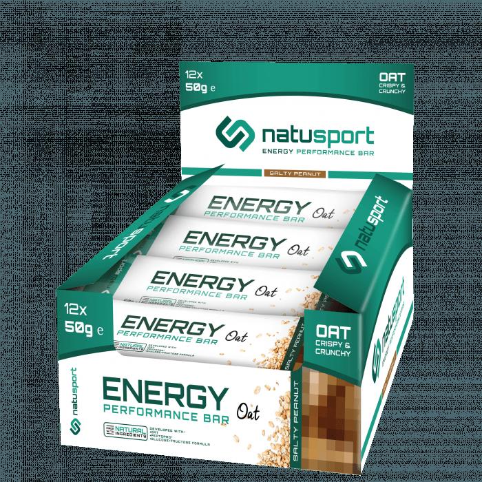 NatuSport Energy Performance Bar Oat - Salty Peanut 12 x 50 gram