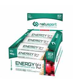NatuSport Energy Performance Bar OAT&FRUIT Red Fruit-Cranberry 12 x 46 gram