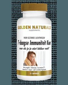 Golden Naturals 7-daagse Immuniteit Kuur 21 vegetarische capsules
