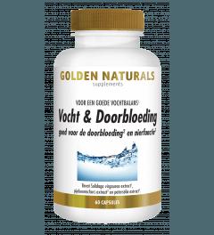 Golden Naturals Vocht & Doorbloeding 60 vegetarische capsules