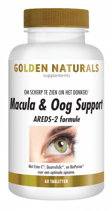 Golden Naturals Macula & Oog Support 60 tabletten