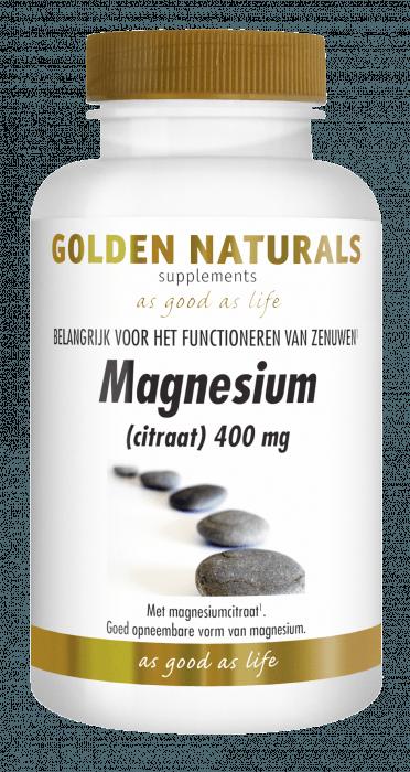 Golden Naturals Magnesium(citraat) 400 mg 60 capsules